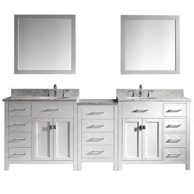Create Photo Gallery For Website Virtu USA Bradford in Double Basin Vanity in Espresso with Glass Vanity Top in Aqua and Mirror at The Home Depot Mobile