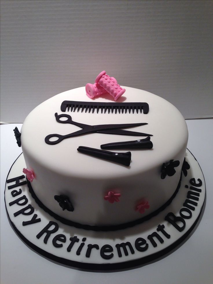 Hairdresser cake.                                                                                                                                                                                 More