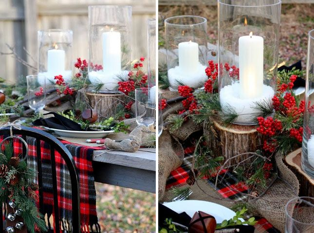 15 Gorgeous Holiday Table Settings via Brit + Co