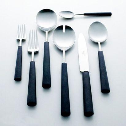 The Ebony cutlery set - Cutipol, Conran Shop. Tabletop, The W* House Wallpaper* Magazine