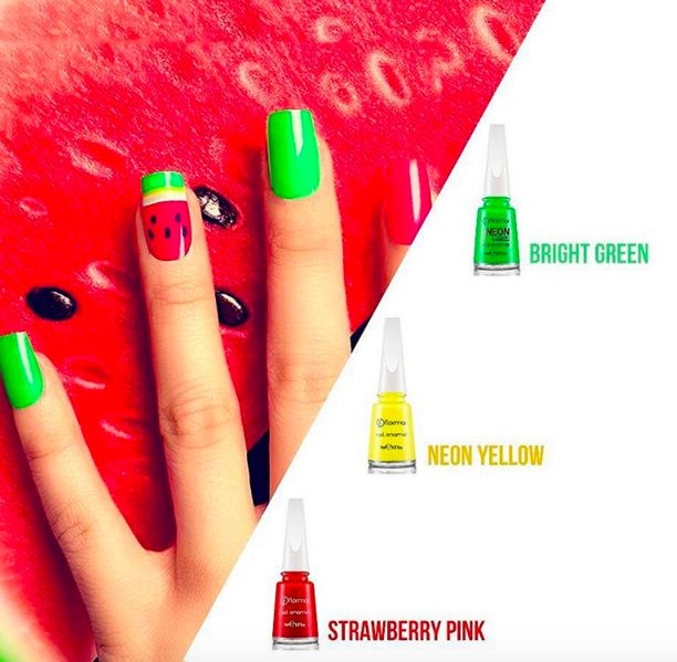 If you miss summer already here is a nailart for you! #nail #nailart #beauty #na…