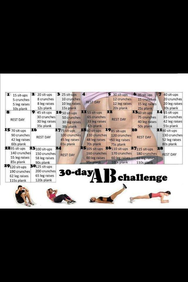 30 day ab challenge - Thanks @Ashley Walters Speed!