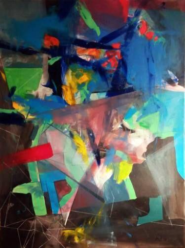 "Saatchi Art Artist Malvina - Carola Liuba; Painting, ""Deconstruction"" #art"