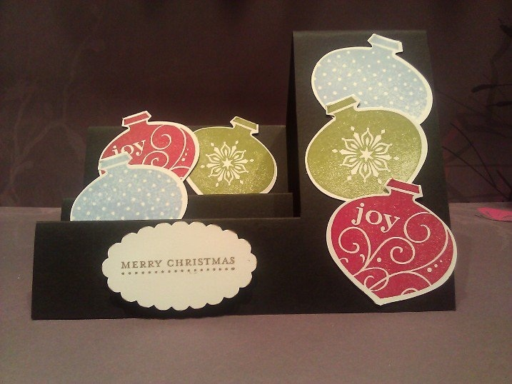 Christmas cards for 2011. A Stampin' Up design