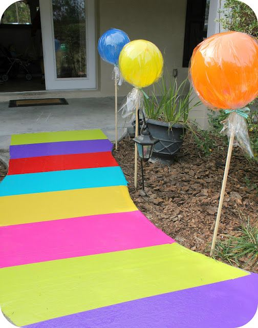 Candyland walkway from duct tape