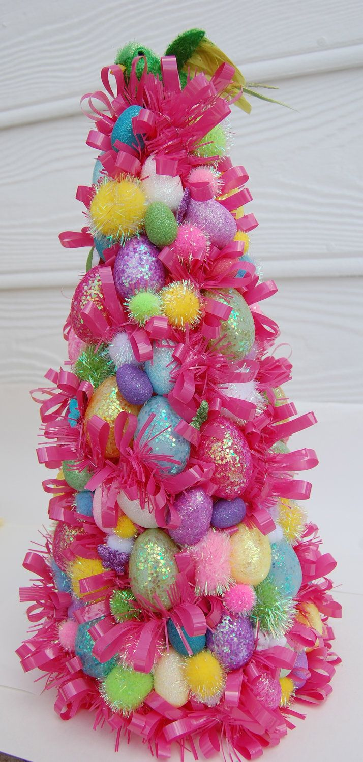 Christmas trees decorated pink - Easter Tree I Was Just Going To Put Our Pink Christmas Tree Away After Valentines