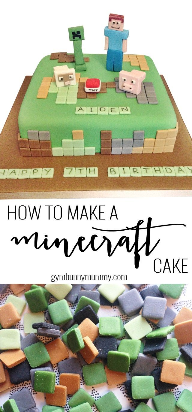 How To Make A Minecraft Cake The Easy Way Gymbunnymum