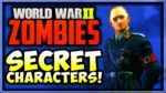 REVEALED How To UNLOCK All 6 Secret Characters in WW2 Zombies (WW2 Zombies Secret EASTER EGGS)
