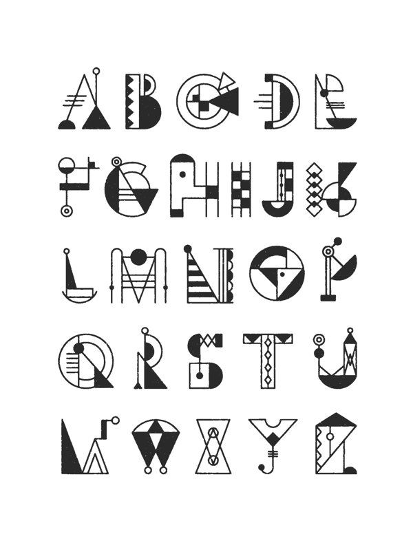 BAUCHSTABEN - typeface design by Nana Nozaki, via Behance