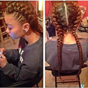 Peachy 1000 Ideas About 2 Goddess Braids On Pinterest Goddess Braids Hairstyle Inspiration Daily Dogsangcom
