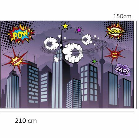 7x5FT Backdrop Superhero City Building Vinyl Background Photography Studio Props Image 4 of 4