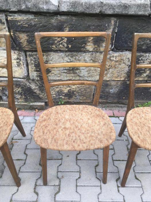 3 Krzesła gięte PRL Swarzędz retro vintage starocie antyk Katowice