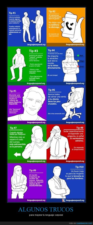 Trucos de lenguaje no verbal - para mejorar tu lenguaje corporal