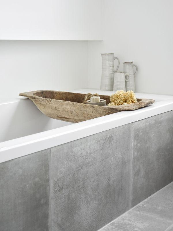 Inklätt badkar