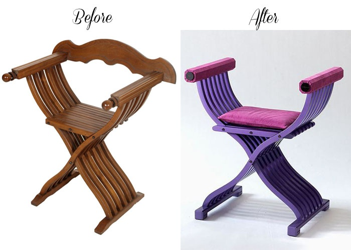 Before Savonarola chair - After Jacobian Versace Home... read more: http://myartistic.blogspot.it/2010/04/290410-jacobian-versace-home-la-nuova.html