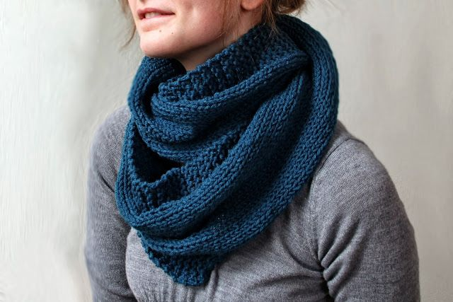 The Fuzzy Square: Keeping it Simple Stockinette Cowl Pattern