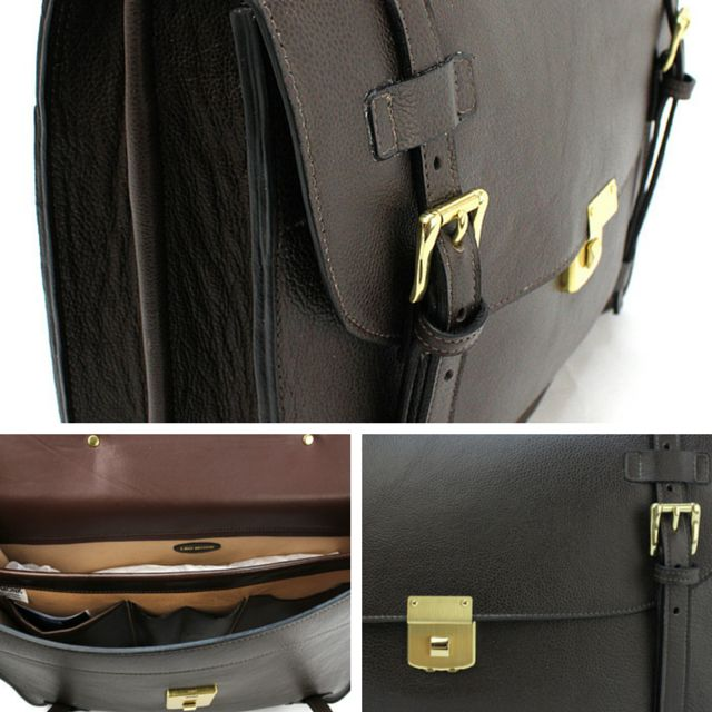 The briefcase. Made in Sydney with Italian leather