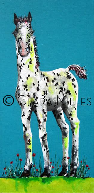 Freckles, 12 x 24 acrylic painting, by Clara Nilles