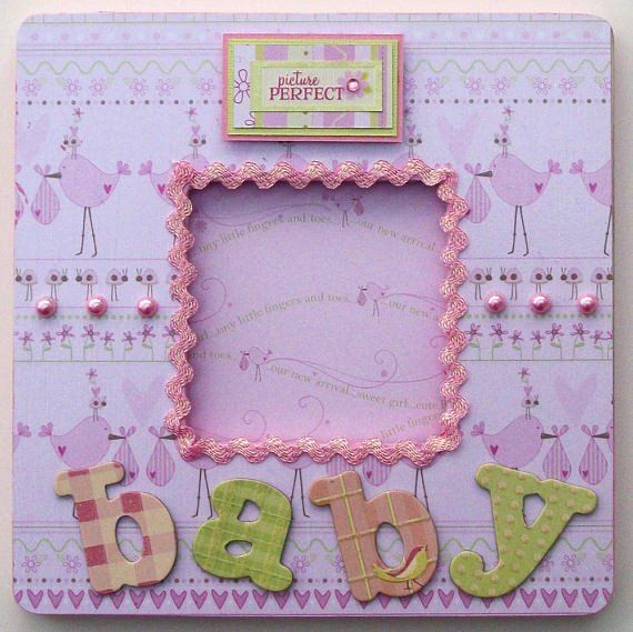 Pink Baby Girl Altered Wood Picture Photo by lotusflowerdesigns, $20.00
