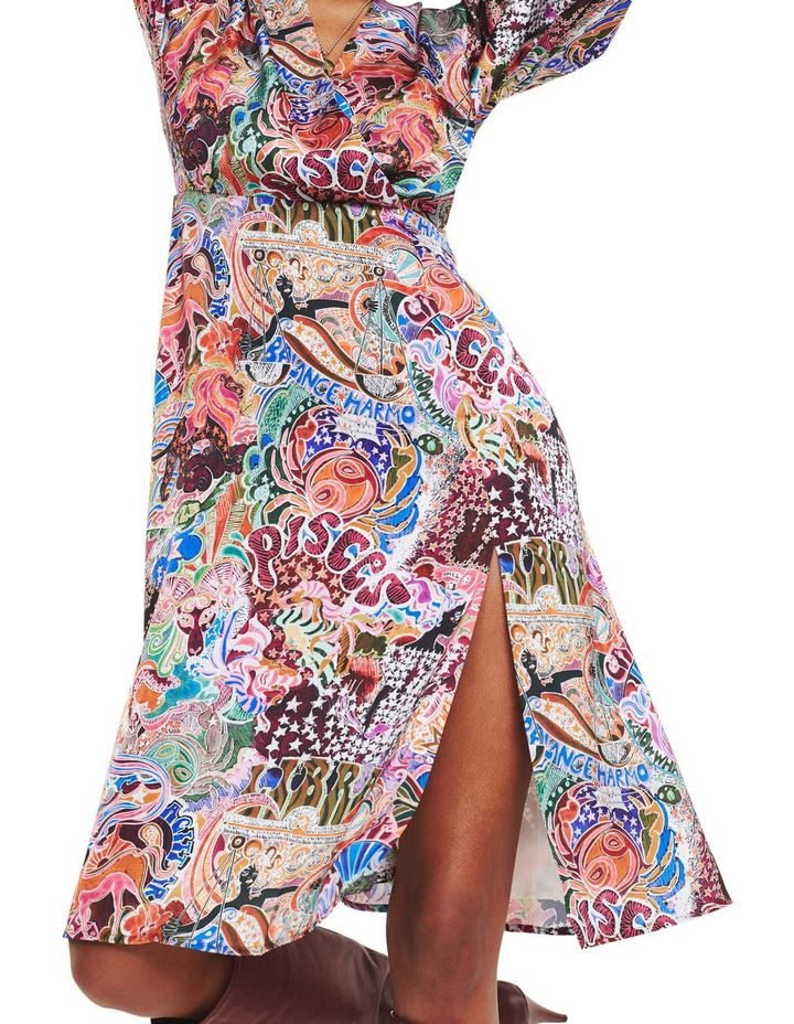 Tommy Hilfiger | Zendaya Satin Wrap Long Sleeve Dress | MYER