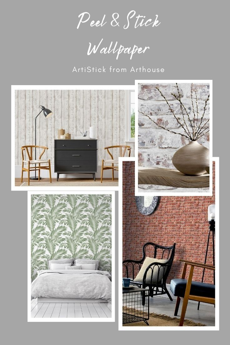 Arthouse Tropical Palm Green Non Woven Peel And Stick Wallpaper Lowes Com Peel And Stick Wallpaper Cleaning Walls Home Art