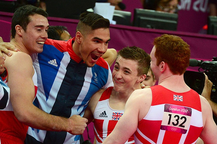 Team GB medals: Kristian Thomas, Louis Smith, Sam Oldham and Daniel Purvis