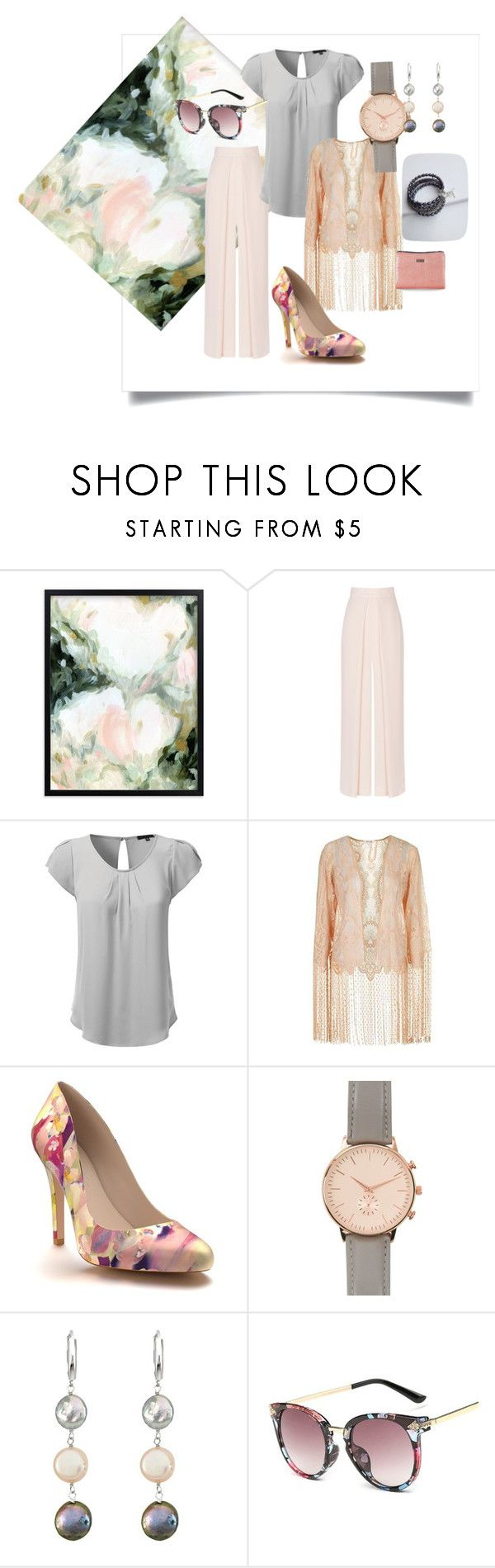 """Pink is the Word!"" by judyrstinson ❤ liked on Polyvore featuring Coast, Topshop, Shoes of Prey, Anjali, New Look and DaVonna"
