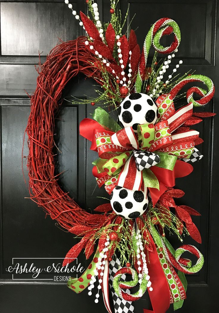 red oval whimsical christmas initial wreath scheduled via httpwwwtailwindappcomutm_sourcepinterestutm_mediumtwpin