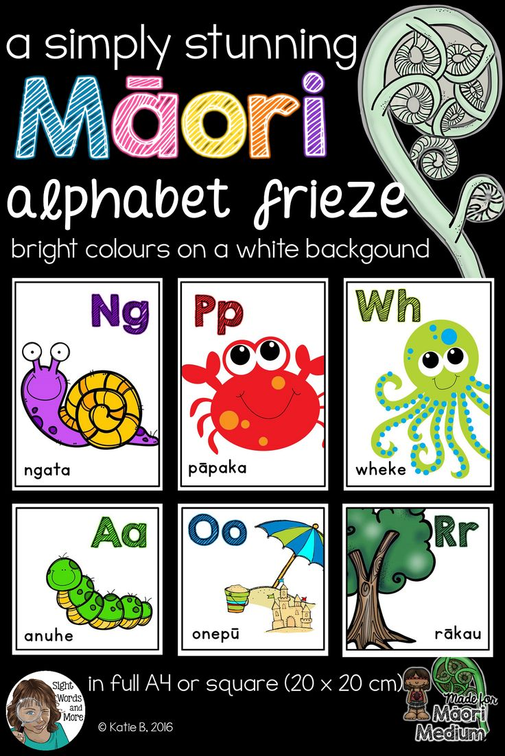 A beautiful collection of Maori language alphabet posters perfect for kiwi classrooms (Maori and English medium classrooms alike). This resource has bright pictures and text that pop off the white backgrounds. Comes in full size A4 posters are included as well as 20 X 20 cm posters for the square alphabet frieze look.