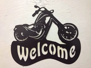 Hey, I found this really awesome Etsy listing at https://www.etsy.com/listing/200339823/metal-motorcycle-chopper-welcome-sign-16