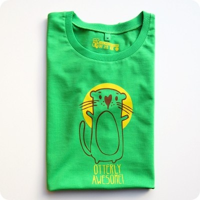 otterly awesome t-shirt - perfect green tee for st paddys day. #otter