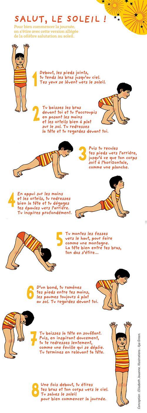 Le petit yoga : Salut le soleil ! à - L'atelier Pomme d'Api pour enfants - Familiscope                                                                                                                                                                                 Plus