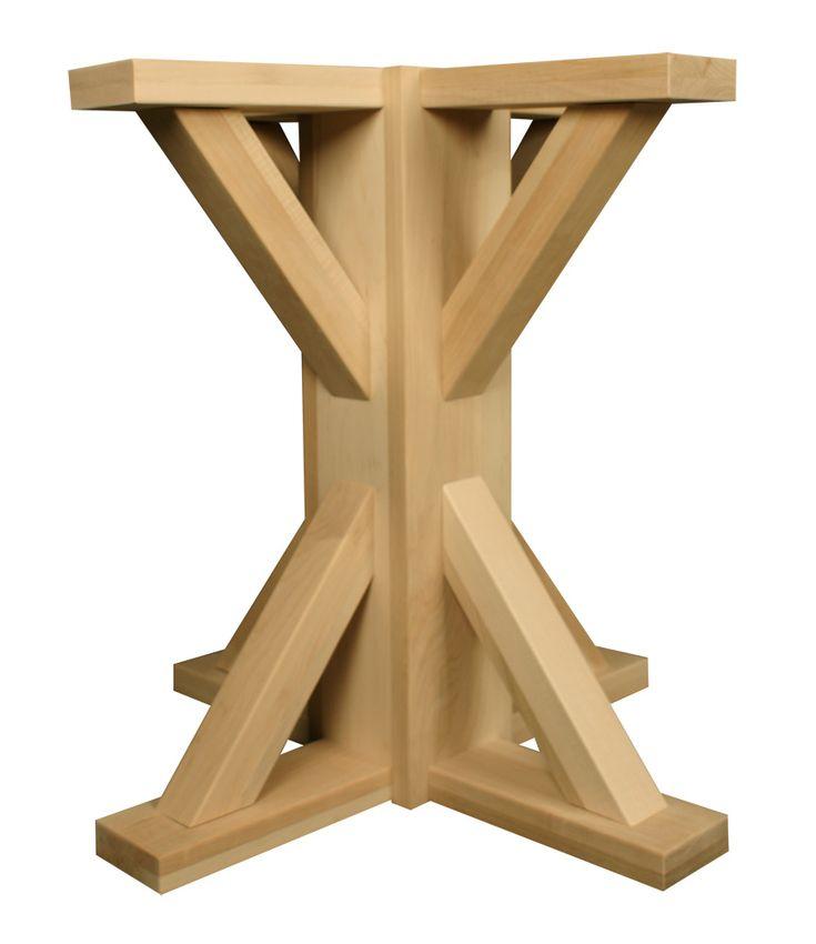 Craftsman square pedestal pedestal table base wood