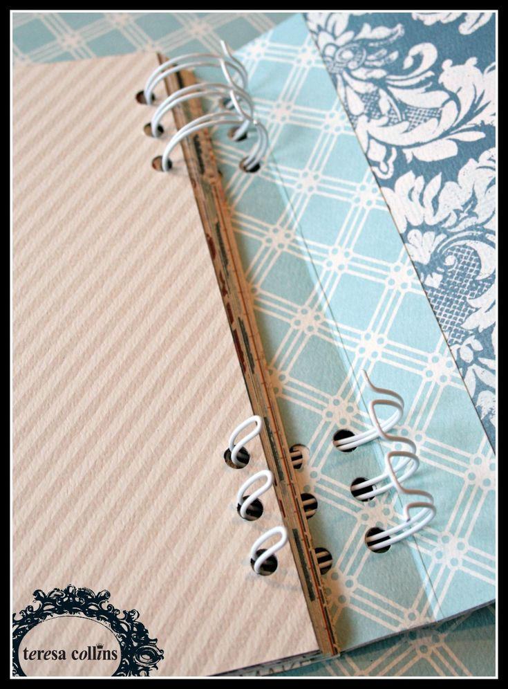 TERESA COLLINS DESIGN TEAM: Mini Book Binding Tutorial by Cheri Piles using the new Now & Then collection - 6
