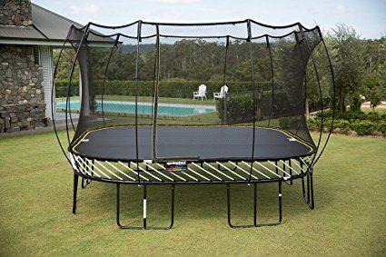 Amazon.com : Springfree Trampoline - 13ft Jumbo Square Smart Trampoline With Basketball Hoop, Ladder, tgoma : Springless Trampoline : Sports & Outdoors