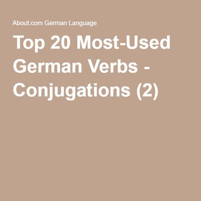 Top 20 Most-Used German Verbs - Conjugations (2)