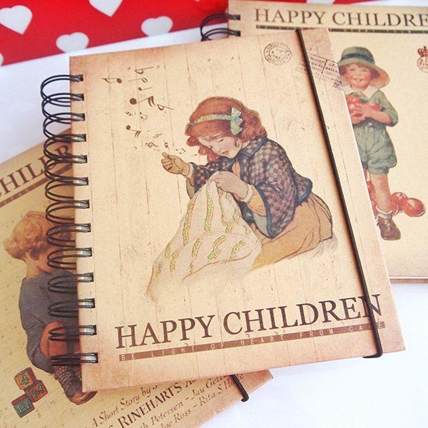 Happy Children Spiralli Defter-1