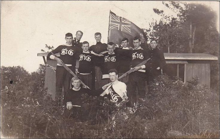 RPPC Rowing Team St. Georges College near Toronto ON Canada Red Ensign date 1913