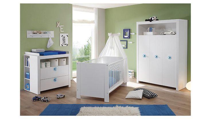 Babyzimmer Set OLIVIA Kinderzimmer in weiß 3 teilig ... | {Babyzimmer set 2}