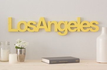 $76 Los Angeles WordBiLLY, Apple Red - contemporary - Novelty Signs - WordBiLLY