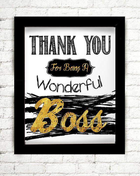 7 best gift ideas for bosses images on pinterest principal gifts thank you for being a wonderful boss gift for by starprintshop negle Choice Image