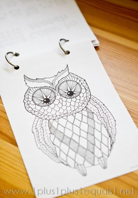 beautiful owl coloring pages great for adults too