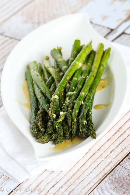 Roasted Asparagus Recipe with Dijon Vinaigrette Dressing from @Cookin ...