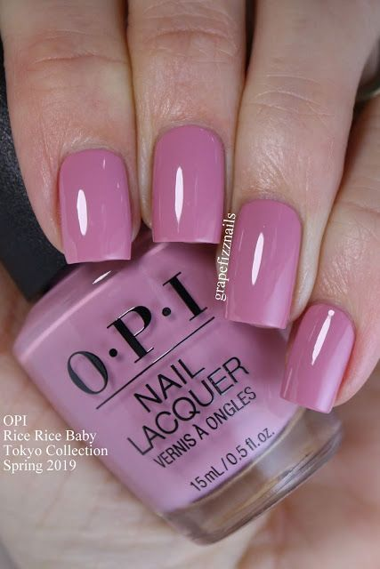 Rice Rice Baby Opi Tokyo Collection Spring 2019 Nail Designs In 2019 Opi Nails Nail Color
