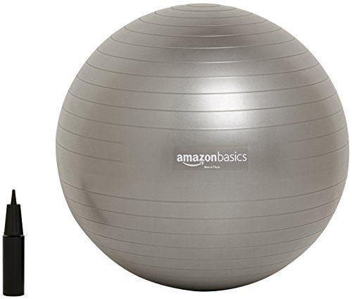 AmazonBasics Balance Ball with Hand Pump - 75 cm