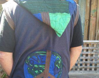 wonderland rainbow festival coat.... recycled.. by squashdesigns