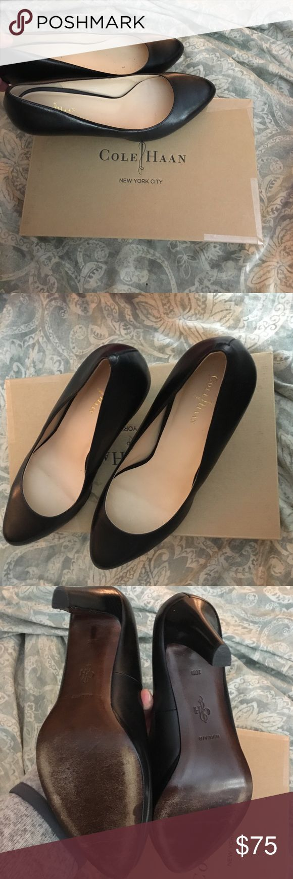 "Like new Cole Haan Air Margot Pump EUC Cole Haan Air Margot Pump in black leather. They most comfortable heels ever!! So I bought 3 pairs and that was a little excessive so I'm selling these. They have Nike air technology for added comfort, these heels have a 3"" heel. Cole Haan Shoes Heels"