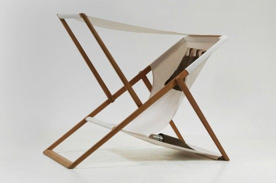 XZ Deck Chair by Numen - with retractable sunshade