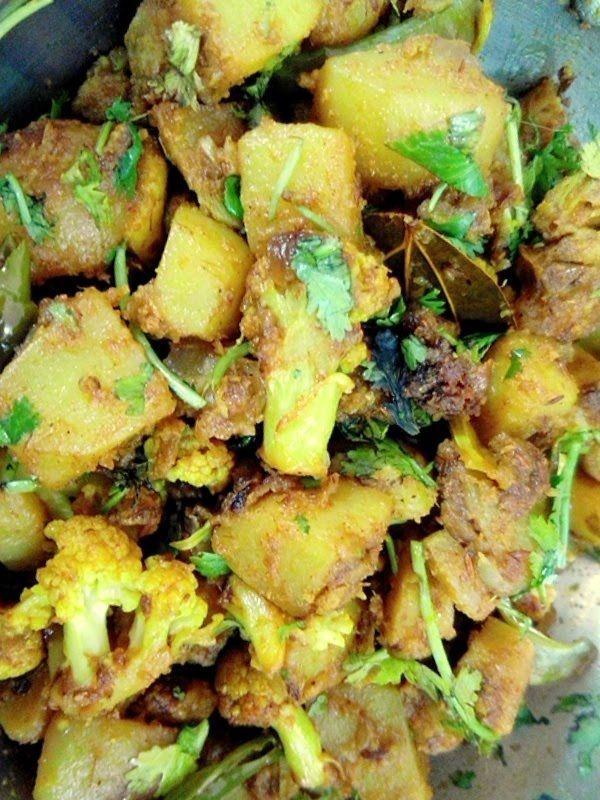 Masala Sabji - Aloo Gobhi mix vegetable recipe by TASTE INDIA