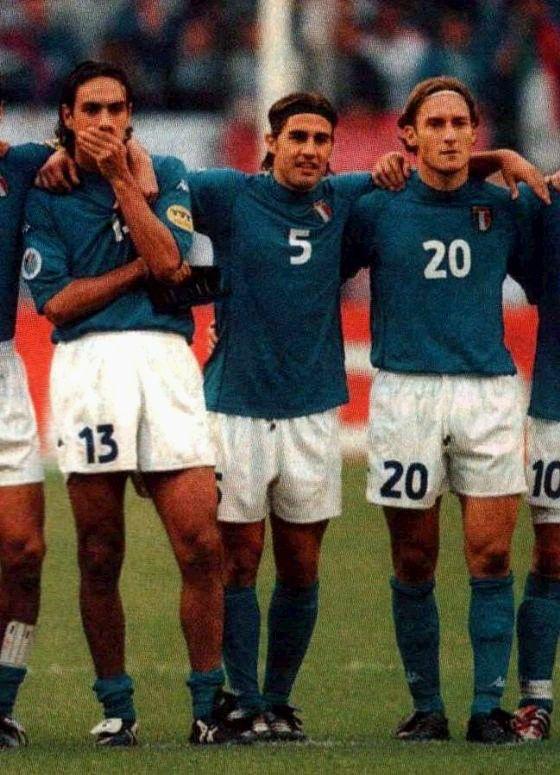 Alessandro Nesta, Fabio Cannavaro, and Francesco Totti!